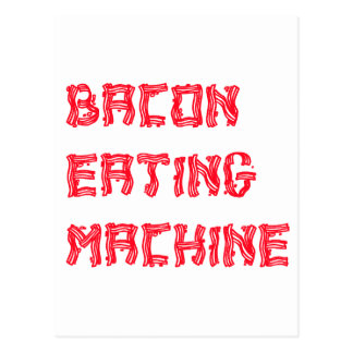 Carte Postale Lard mangeant la machine