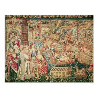 Carte Postale L'arrivée de Vasco da Gama à Calcutta
