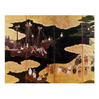 Carte Postale L'arrivée du Portugais au Japon 2