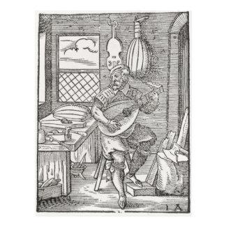 Carte Postale L'atelier du fabricant d'instrument, c.1570
