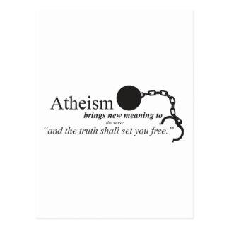 Carte Postale L'athéisme apporte la nouvelle signification