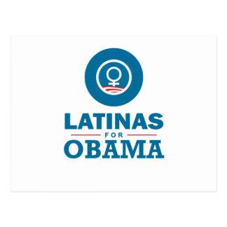 Carte Postale Latinas pour Obama