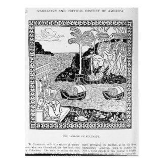 Carte Postale L'atterrissage de Columbus