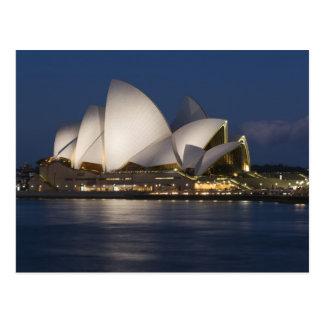 Carte Postale L'Australie, Sydney. Théatre de l'opéra la nuit