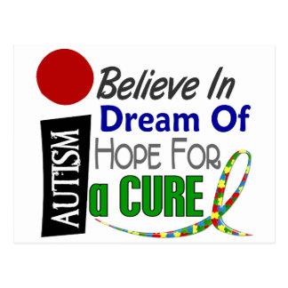 Carte Postale L'autisme CROIENT l'ESPOIR RÊVEUR