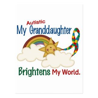 Carte Postale L'autisme ÉCLAIRE MA petite-fille du MONDE 1