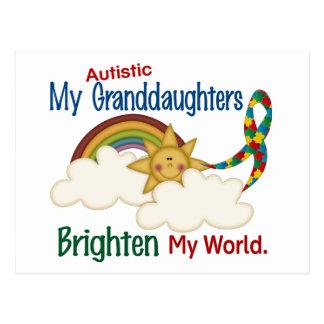 Carte Postale L'autisme ÉCLAIRENT MES petite-filles du MONDE 1