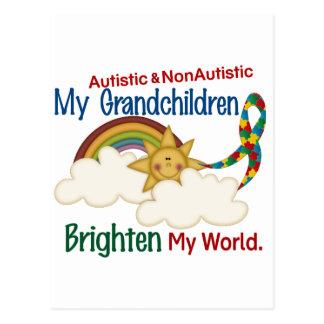 Carte Postale L'autisme ÉCLAIRENT MES petits-enfants 2 du MONDE