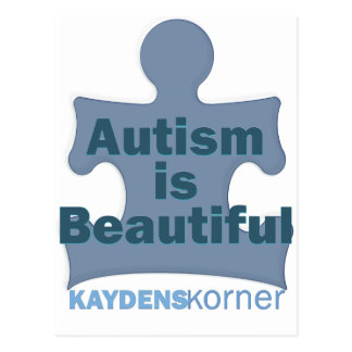 Carte Postale L'autisme est beau