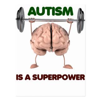Carte Postale L'autisme est la superpuissance, cadeau de levage