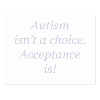 Carte Postale L'autisme n'est pas un bien choisi…