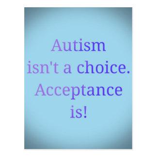 Carte Postale L'autisme n'est pas un choix