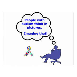 Carte Postale L'autisme/pensent dans les images