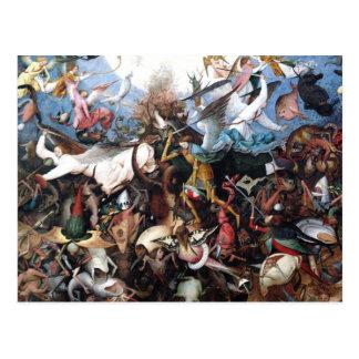 Carte Postale L'automne des anges rebelles par Pieter Bruegel
