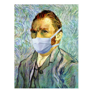 Carte Postale L'autoportrait de Vincent van Gogh avec le masque