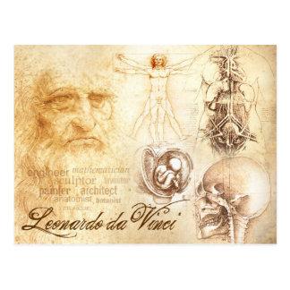 Carte Postale L'autoportrait et les études anatomiques de da