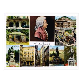 Carte Postale L'Autriche, Mozart, endroits a lié à Mozart
