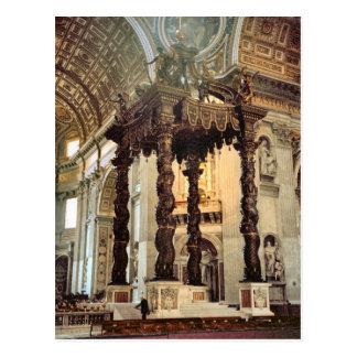 Carte Postale L'auvent de Bernini au-dessus du haut autel