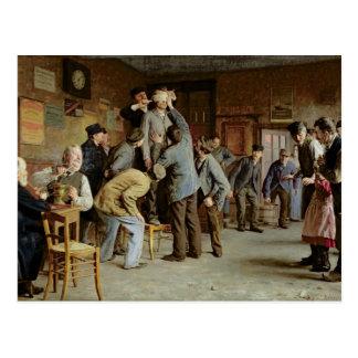 Carte Postale Le Bain de Pieds Inattendu, 1895