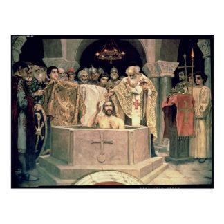 Carte Postale Le baptême de duc grand Vladimir, 1885-96