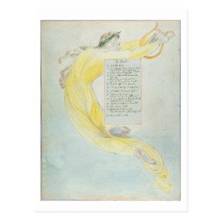 """Carte Postale """"Le barde"""", conçoivent 52 """"des poèmes de Thomas GR"""