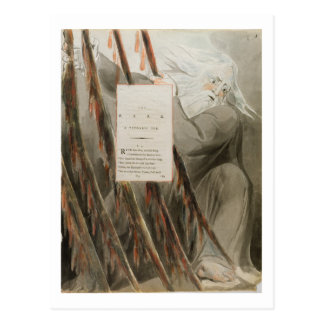 Carte Postale Le barde : Une ode Pindaric, 'des poèmes de Thoma