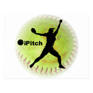 Carte Postale le base-ball de Fastpitch d'iPitch