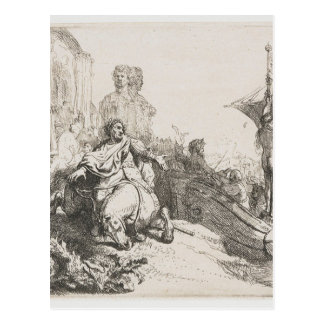 Carte Postale Le bateau de la fortune par Rembrandt