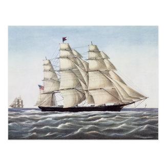 "Carte Postale Le bateau de tondeuse ""nuage de vol """