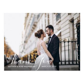 Carte Postale le beau manuscrit   épousant vous remercient