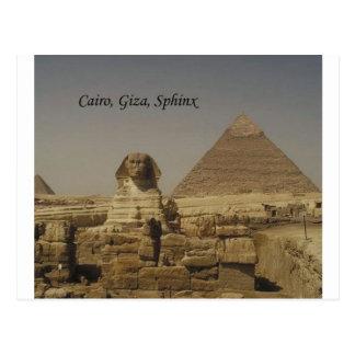 Carte Postale Le Caire, Gizeh, le sphinx (St.K.)