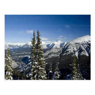Carte Postale Le Canada, Alberta, Banff. Vues de la vallée d'arc