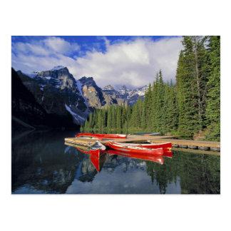 Carte Postale Le Canada, Alberta, lac moraine. Le vitreux