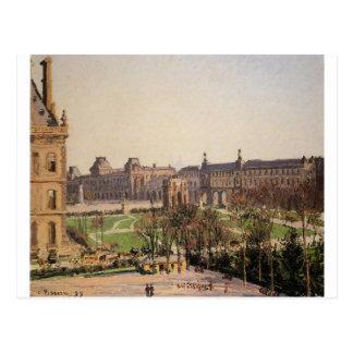 Carte Postale Le carrousel, après-midi par Camille Pissarro