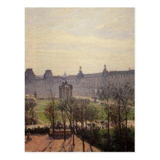 Carte Postale Le carrousel, automne, matin par Camille Pissarro