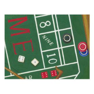 Carte Postale Le casino chie le Tableau avec des puces et des