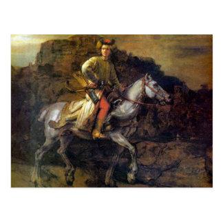 Carte Postale Le cavalier polonais par Rembrandt Harmenszoon van