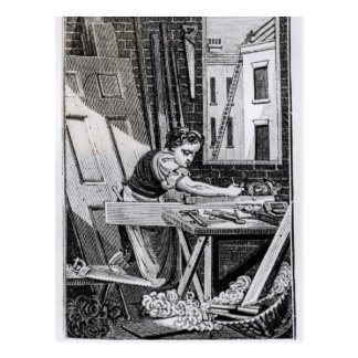 Carte Postale Le charpentier