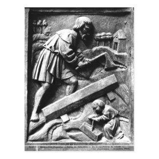 Carte Postale Le charpentier, détail d'un retable