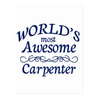 Carte Postale Le charpentier le plus impressionnant du monde