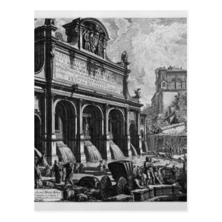 Carte Postale Le château de l'Acqua Felice Giovanni Battista