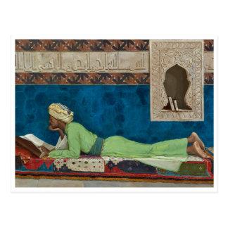 Carte Postale Le chercheur par Osman Hamdi Bey