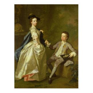 Carte Postale Le chéri. Rachel Hamilton et son frère