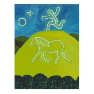 Carte Postale Le cheval blanc à Somerset 2011
