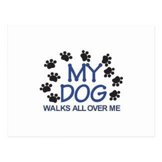 Carte Postale Le chien marche des pattes