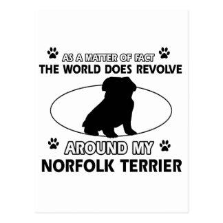 Carte Postale Le chien tourne autour de la ma Norfolk Terrier