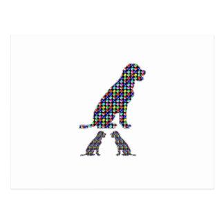 Carte Postale Le chiot de chien de LABRADOR pointille