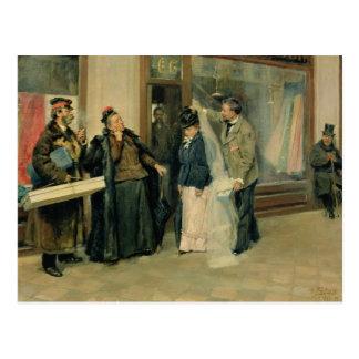 Carte Postale Le choix des cadeaux de mariage, 1897-98