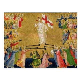 Carte Postale Le Christ a amélioré dans la cour du ciel, 1423-24