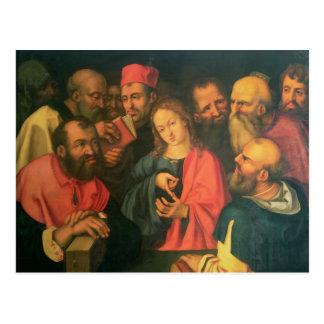 Carte Postale Le Christ, âgé douze, parmi les scribes